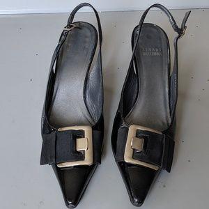 STUART WEITZMAN Pointy Toe Sling back heels